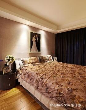 现代简约婚房卧室装修效果图