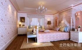 田园粉红女生卧室装修效果图