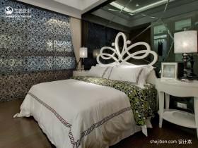 简约三居主卧室装修设计效果图