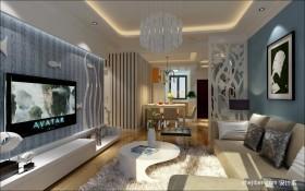 地中海风格客厅背景墙装饰效果图