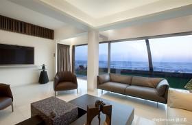 现代风格海滨豪宅二楼客厅设计