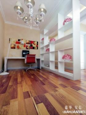 现代书房木地板装修设计