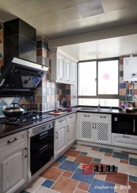 地中海风格厨房瓷砖装修效果图