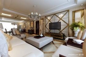 新古典家居别墅客厅电视背景墙装修效果图