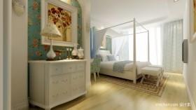 清新的地中海风格卧室装修效果图