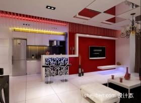 现代客厅吧台装修设计效果图