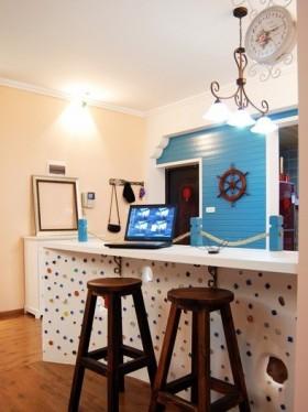 地中海客厅吧台装修效果图