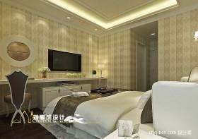 现代简约主卧室装修设计效果图