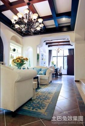 地中海客厅吊灯装饰图片