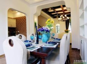 地中海风格餐厅装饰效果图