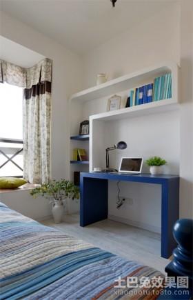 卧室工作区小卧室书房书桌装修图片