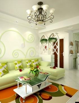 现代田园客厅时尚装饰设计图片