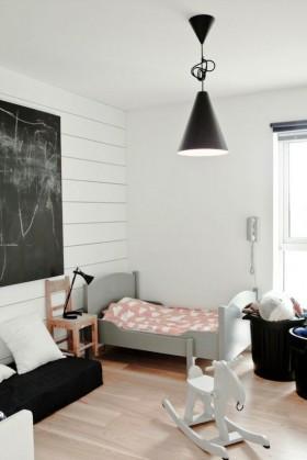 北欧风格单身公寓小卧室装修效果图