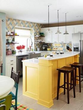 田园小厨房装修设计效果图