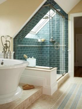 卫生间欧式卫生间玻璃隔断装修效果图