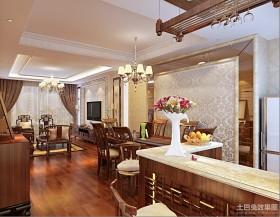新中式休闲区吧台装修