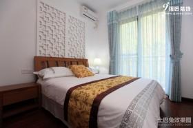 中式卧室窗帘图片