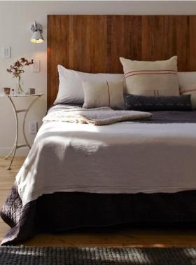 简欧卧室床装饰效果图