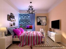 田园卧室床头背景墙