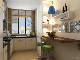 中式厨房吧台装修效果图