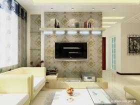 现代三居墙装修效果图客厅电视背景图片
