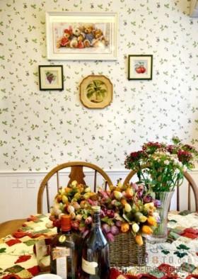 田园餐厅唯美小清新碎花图片