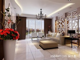 现代大客厅装修效果图