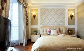 新古典卧室床头软包效果图