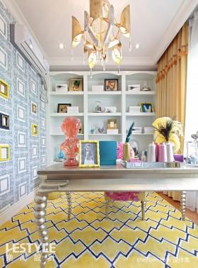 混搭书房书桌装饰装修效果图