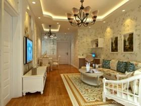 2013田园客厅沙发装修效果图