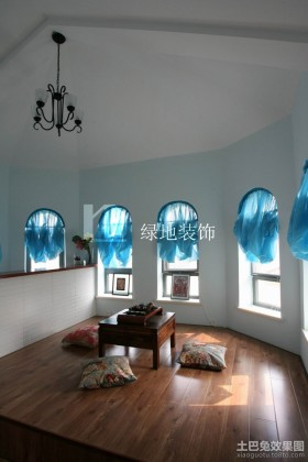 地中海窗帘设计