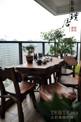 阳台餐桌高层阳台装修效果图大全2013图片