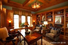 中式古典书房装修效果图