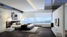 现代四居主卧室装修效果图大全2013图片