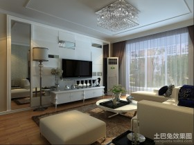 三居客厅电视背景墙装修效果图大全2013图片
