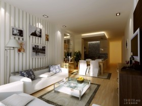 现代简约二居客厅装修样板房