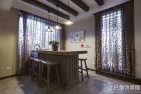 家庭小餐厅遮光窗帘装修效果图