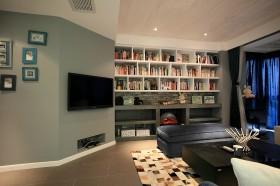现代书房客厅电视背景墙装修效果图