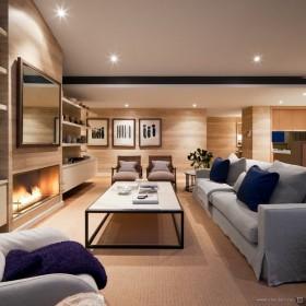 顶层公寓客厅沙发装修设计图片
