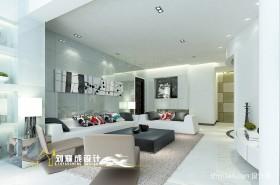 现代四居客厅装修效果图大全2013图片