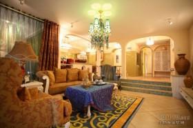 地中海客厅沙发装修效果图大全2013图片