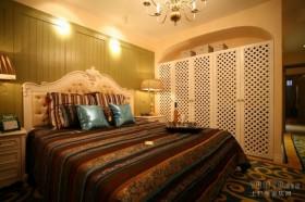 地中海风格主卧室装修效果图大全2013图片