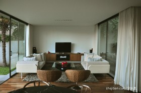 现代别墅客厅装修效果图大全2013图片