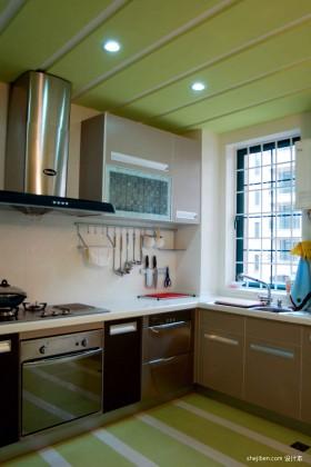 田园风格开放式厨房装修效果图2013图片