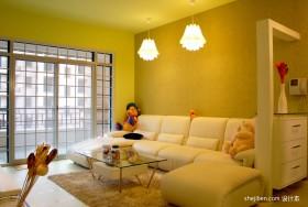田园客厅沙发装修效果图大全2013图片