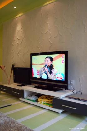 二居客厅电视背景墙装修效果图大全2013图片