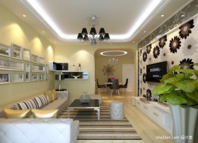 地中海客厅装修设计效果图大全2013图片