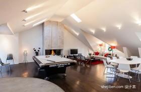 140平米现代时尚阁楼装修效果图客厅装饰设计