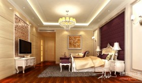 最新现代简约主卧室装修效果图大全2013图片