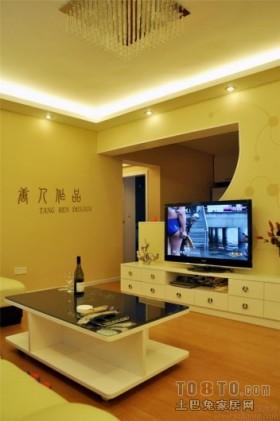 现代简约电视背景墙装修设计效果图